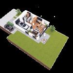 budynek 2 parter 150x150 Zacisze Aleja Parkowa (realizacja 2021/2022)